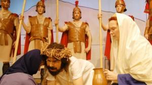 Weg zur Kreuzigung, Proben für die Passionsspiele Zschorlau, Erzgebirge